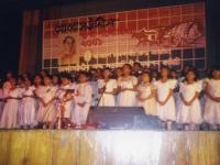Students of Abbasuddin Shongeet Academy performing on his birth anniversary – 2001.