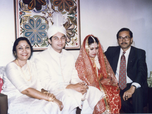 With husband, elder son & his wife,Shamina