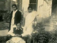With Father and Mother in 1959.