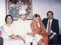 With husband, elder son & his wife,Shamina