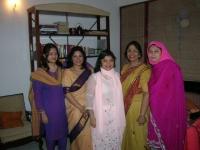With nieces Sharmini, Nashid, Naeela and Nazeefa.