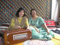 >In her Music Room with niece Naeela