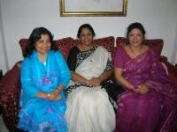 With nieces Nashid Kamal and Naeela, july 2008