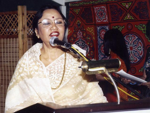 Performing in Bahrain in 1991