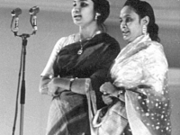 With Laila Arjumand Banu in Tchaikovski Hall, Moscow -1963.