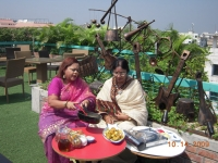 Ferdausi sharing her father's favorite recipe- Lebu ilish. With the viewer of Channel I with Ferdausi Keka.