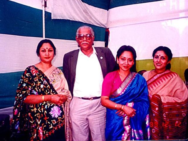 With music director Shamar Das and singer Shabhnam Mustari and Papiya Sarwar.