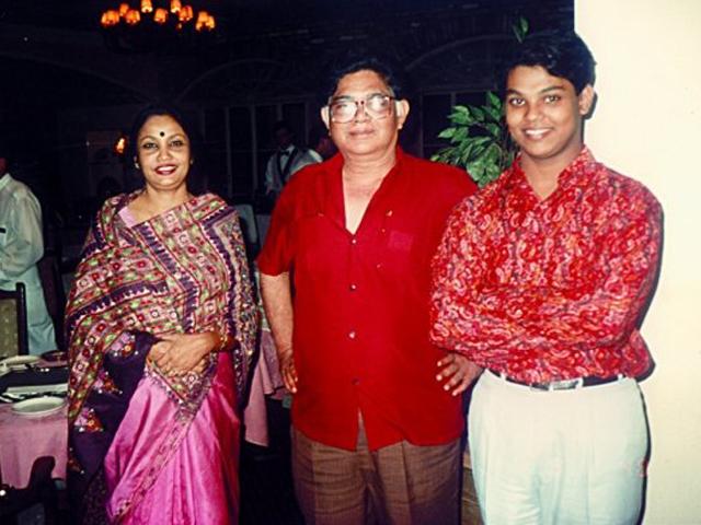 With Suneel Gangopadhyay and Razin in Toronto -92