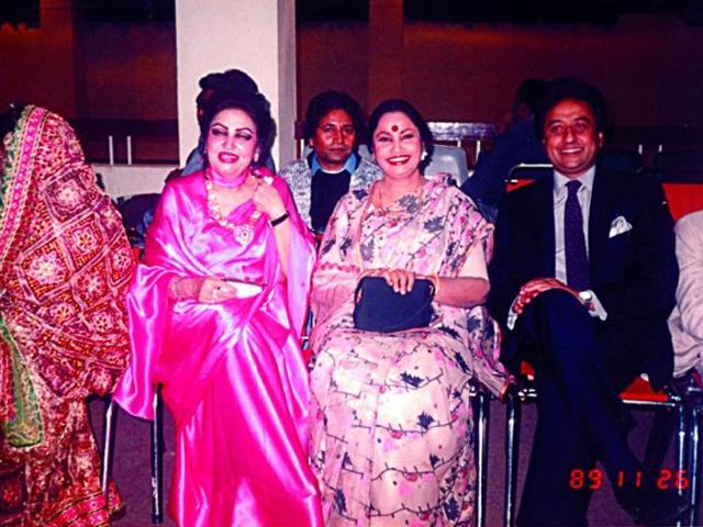 With Singer Noor Jahan and Actor Nadeem- PTV's Silver Jubilee '89'.
