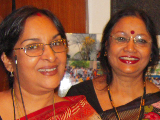 With Mamata Shankar in Kolkata after seeing her latest film of Ritoporno Ghosh.