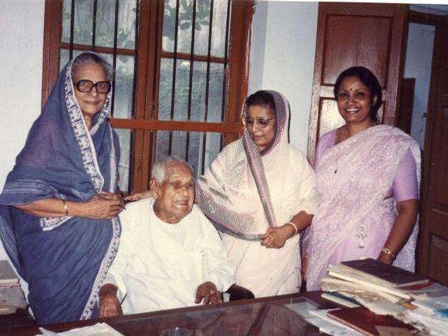 At Begum Club premises are Nurjahan Begum, Mohammad Nasiruddin, Dr. Afia Dil and Ferdausi.