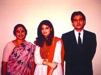 With Nazia Hasan and Zoheb Hasan.