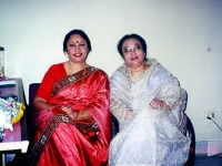 With Nazrul exponent Feroza Begum.
