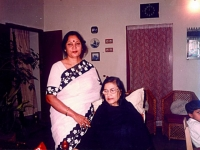 With Rabindra sangeet singer Konika Bondopadhyay.