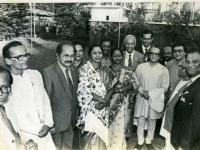 At the Bangabhaban with Pandit Ravi Shankar and Shudhin Das, Dr.Enanul Haq, Brojen Das Chandra Das, Bedaruddin Ahmed, Fauzia Khan, Mobarak H. khan and Azad Khan among others.