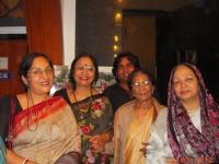 With Momota Shankar & her mother, the great dancer of yester years Amala Shankar and my inner wheel friends in Kolkata.